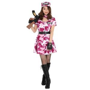 コスプレ衣装/コスチューム 【Army Lady Pink アーミーレディピンク】 ワンピース型 『CLUB QUEEN』 〔ハロウィン イベント〕
