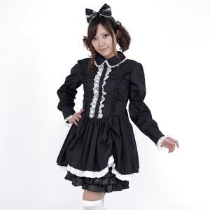 コスプレ衣装/コスチューム 【ロリータブラック】 レディー�