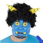 【コスプレ】Patymo かつら付き青鬼ラバーマスク