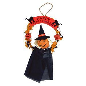 【コスプレ】 RUBIE'S(ルービーズ) HALLOWEEN(ハロウィン) 6inch Pumpkin Scarecrow Wreath(6インチ パンプキン スケアクロウ リーズ) - 拡大画像