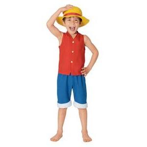 【コスプレ】 RUBIE'S (ルービーズ) Child Monky.D. Luffy Lサイズ - 拡大画像