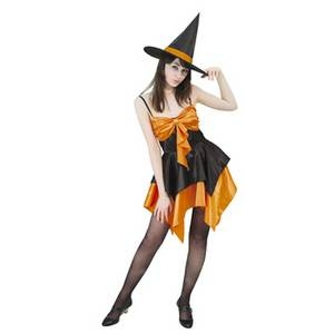 【コスプレ】 RUBIE'S (ルービーズ) オレンジドレッシーウィッチ Orange Dressy Witch Stdサイズ - 拡大画像