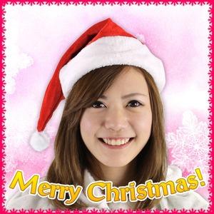 【クリスマスコスプレ 衣装】 Patymo クリスマスサンタ帽子 レッド - 拡大画像
