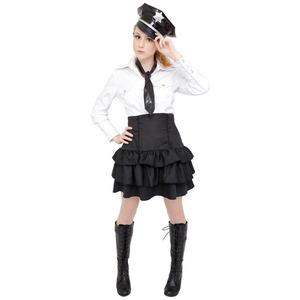 コスプレ衣装/コスチューム 【Monotone Police(モノトーンポリス)】 『CLUB QUEEN』 レディース 〔ハロウィン イベント〕 - 拡大画像