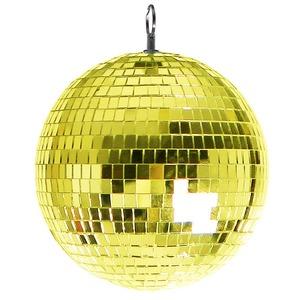 ミラーボール/イベント用品 【直径30cm】 ゴールド 『Patymo』 〔ハロウィン イベント〕 - 拡大画像