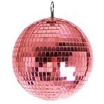 ミラーボール/イベント用品 【直径30cm】 ピンク 『Patymo』 〔ハロウィン イベント〕