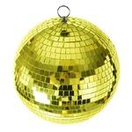ミラーボール/イベント用品 【直径20cm】 ゴールド 『Patymo』 〔装飾/イベント〕