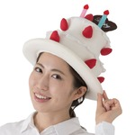 コスプレ/キャップ 【スイーツケーキハット】 帽子『おもしろキャップ』 〔フェス イベント〕