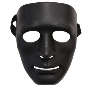 パーティー/イベント 【6枚セット】 ダンスマスク 黒 『Uniton』〔フェス〕 - 拡大画像