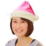 コスプレ/衣装 【3枚セット】 クリスマスサンタ帽子 ピンク『Patymo』 〔Christmas イベント〕