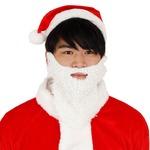 パーティー/コスプレ 【2点セット】 サンタさんのひげ カール 『Patymo』 〔クリスマス フェス〕