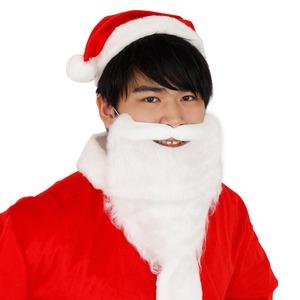 パーティー/コスプレ 【3点セット】 サンタさんのヒゲ(ショート) 『Patymo』 〔クリスマス フェス〕 - 拡大画像