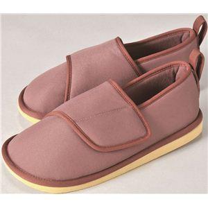 【快適介護用品】つまずき転倒予防靴 ソフトケアルームシューズ あずき M - 拡大画像