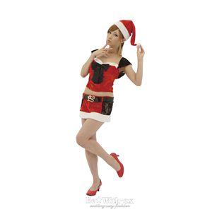 【クリスマスコスプレ 衣装】サンタさんはメイド志望 - 拡大画像