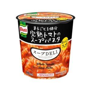【まとめ買い】味の素 クノール スープDELI 完熟トマトのスープパスタ 41.9g×24カップ(6カップ×4ケース) - 拡大画像