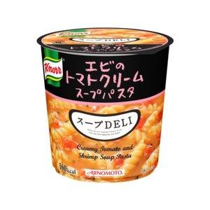 【まとめ買い】味の素 クノール スープDELI エビのトマトクリームパスタ 41.2g×24カップ(6カップ×4ケース) - 拡大画像