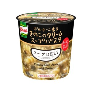 【まとめ買い】味の素 クノール スープDELI ボルチーニ香るきのこのクリームパスタ 40.7g×18カップ(6カップ×3ケース)
