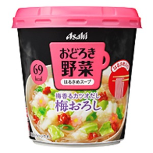 【まとめ買い】アサヒフーズ おどろき野菜 梅おろし 24カップ入り(6カップ×4ケース)
