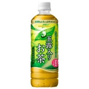 【まとめ買い】ポッカサッポロ 玉露入りお茶 ペットボトル 500ml 24本入り(1ケース) - 拡大画像