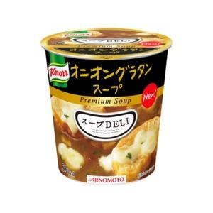 【まとめ買い】味の素 クノール スープDELI オニオングラタンスープ 14.5g×24カップ(6カップ×4ケース) - 拡大画像