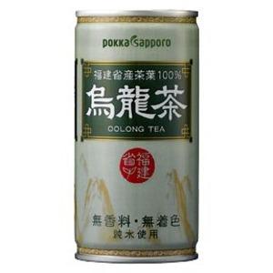 【まとめ買い】ポッカサッポロ 烏龍茶 缶 190g 60本入り(30本×2ケース) - 拡大画像