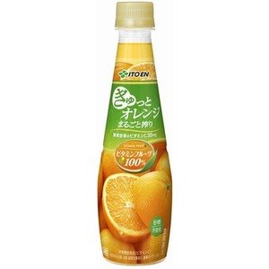 【まとめ買い】伊藤園 ビタミンフルーツ ぎゅっとオレンジまるごと搾り PET 340g×24本(1ケース) - 拡大画像