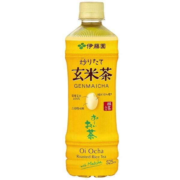 【まとめ買い】伊藤園 おーいお茶 抹茶入り玄米茶 ペットボトル 525ml×24本(1ケース)
