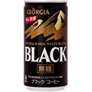 【まとめ買い】コカ・コーラ ジョージア エメラルドマウンテンブレンド ブラック 缶 185g×30本(1ケース) - 拡大画像