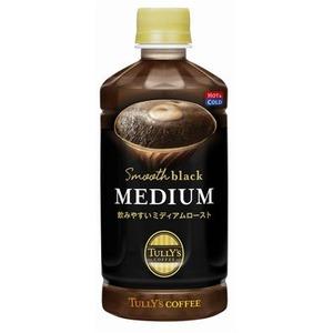 【まとめ買い】伊藤園 TULLY'S COFFEE Smooth black MEDIUM ペットボトル 500ml×24本(1ケース) - 拡大画像