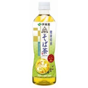 【まとめ買い】伊藤園 伝承の健康茶 健康焙煎 そば茶 500ml×48本(24本×2ケース) ペットボトル - 拡大画像