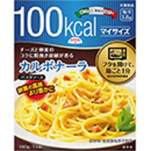 【まとめ買い】大塚食品 100kcalマイサイズ カルボナーラ 100g 10個 - 拡大画像