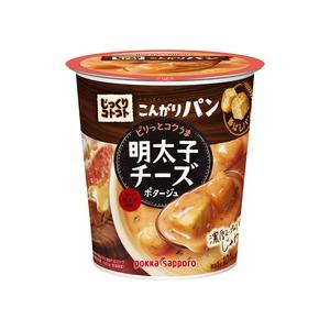 【まとめ買い】ポッカサッポロ じっくりコトコト じっくりコトコト こんがりパン 明太子チーズポタージュ (カップ) 24.4g×24カップ(6カップ×4ケース) - 拡大画像