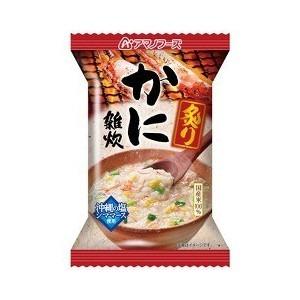 【まとめ買い】アマノフーズ 炙りかに雑炊 21g(フリーズドライ) 6個
