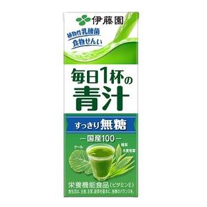 【まとめ買い】伊藤園 毎日1杯の青汁 すっきり無糖 紙パック 200ml×24本(1ケース) - 拡大画像
