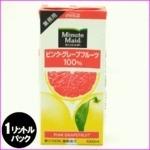 コカ・コーラ (コカコーラ) ミニッツメイド ピンクグレープフルーツ 100% 1L紙パック×12(6×2)本入