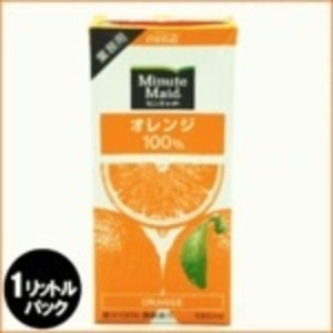 コカ・コーラ (コカコーラ) ミニッツメイド オレンジ 100% 1L紙パック×12(6×2)本入 - 拡大画像
