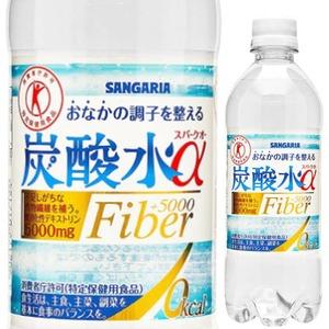 サンガリヤ 炭酸水α 特定保健用食品 500mlPET 【×24本セット】 - 拡大画像