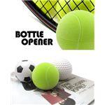 洋酒ボトル栓抜き、ボトルオープナー マグネット付き サッカー