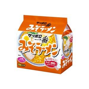 サッポロ一番 みそラーメン 5個パック×6P【1ケース・30食】 - 拡大画像