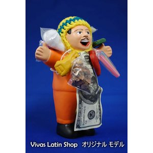 【エケコ人形15cm】ミックス色、人気サイズの15cm、色の指定ができません(ペルー直輸入) - 拡大画像
