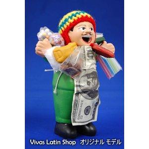 【エケコ人形15cm】ミックス色、人気サイズの15cm、色の指定ができません(ペルー直輸入)
