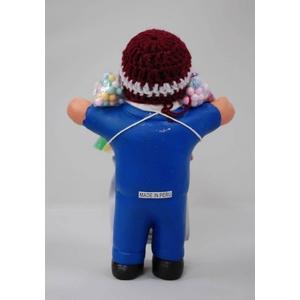 【エケコ人形18cm】ミックス色「タバコをくわえさせてあげるとお礼に願い事が叶えてくれる!」と話題になった幸運人形。」【(色の指定ができません)(ペルー直輸入)タイプ2後ろ