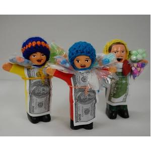 【エケコ人形10cmx1体】ミックス色 かわいい小さいサイズのミニエケコ人形(ペルー直輸入)【色指定不可】 - 拡大画像