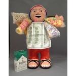 【特大エケコ人形30cm】ペルー製「限定モデル、ビッグサイズのエケコ人形です。」【色などのご指定は出来ません。】商売繁盛の福
