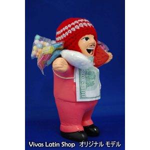 【エケコ人形15cm】【TYPE:1】ピンク色(桃色) 女性に人気!(ペルー直輸入) - 拡大画像