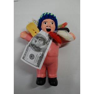 【エケコ人形15cm】【TYPE:3】うすいピンク色(桃色) 女性に人気!(ペルー直輸入) - 拡大画像
