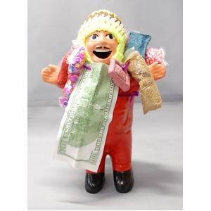 【エケコ人形18cm】ミックス色 エケコ人形 18cm タイプ1 顔にホリのあるタイプのエケコ人形  - 拡大画像