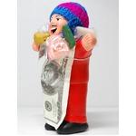 【エケコ人形18cm・タイプ2・赤】胴体の色は赤(レッド)「タバコをくわえさせてあげるとお礼に願い事が叶えてくれる!」と話題になった幸運人形。ペルー製