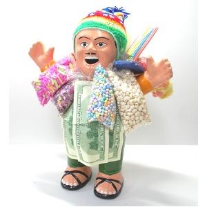 【特大エケコ人形35cm】ペルー製「現品・限定」ビッグサイズのエケコ人形です。商売繁盛の福  - 拡大画像