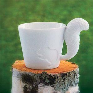【ギフトにもぴったり!】Mugtail 磁器製マグカップ リス 【2個セット】 - 拡大画像
